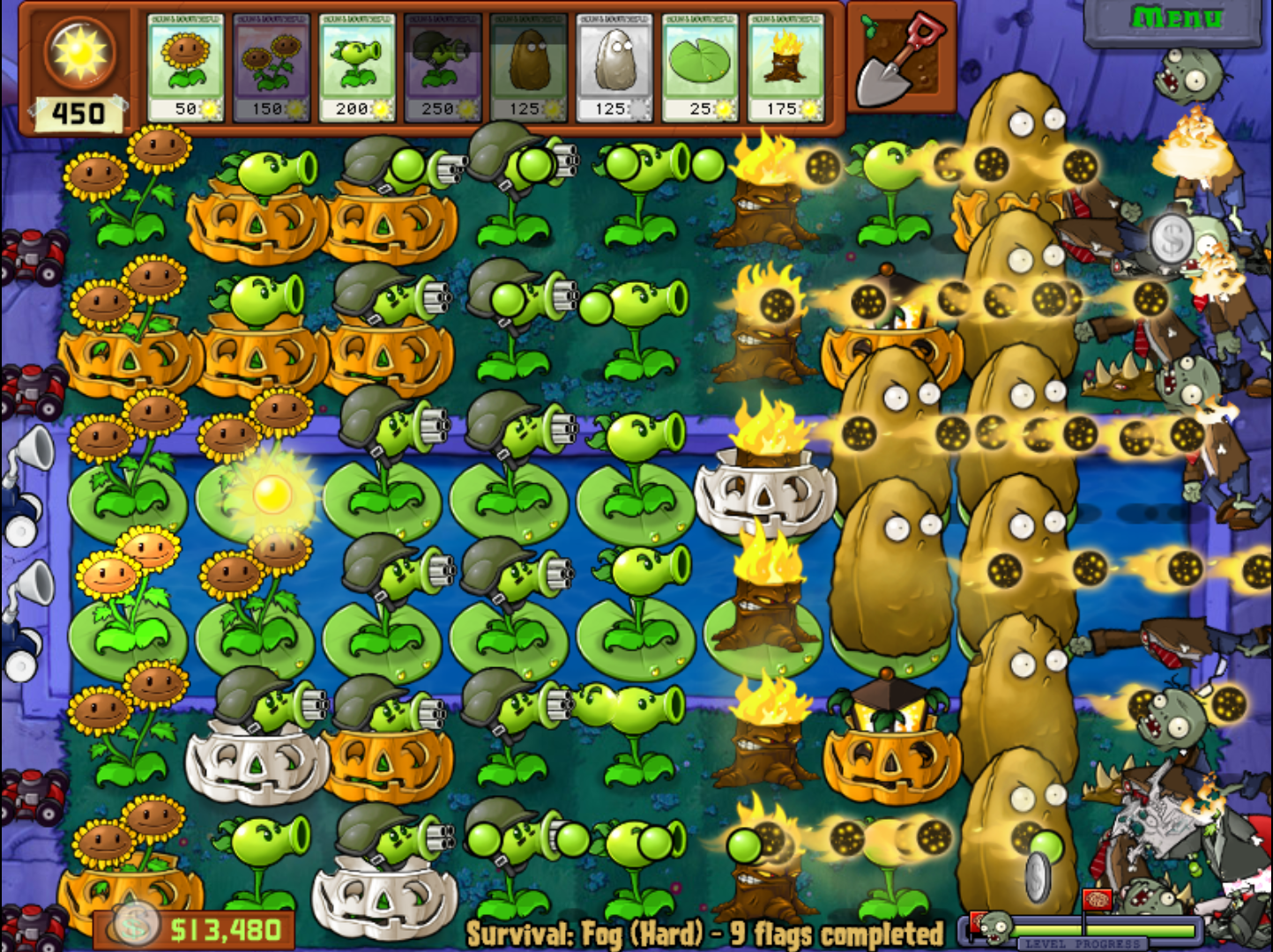 Plants vs zombies 2 игра растения против зомби